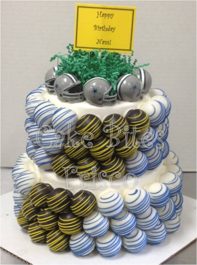 Pleasing Cake Ball Cakes Fall Football Cake Bites Llc Funny Birthday Cards Online Elaedamsfinfo